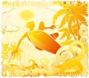 Surfer grunge Image libre de droits
