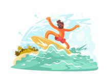 Surfer guy in sunglass Royalty Free Stock Photo
