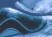 Surfer illustration Stock Photos