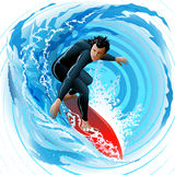 The Surfer Royalty Free Stock Photos