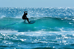 Surfer im Surfer-Paradies Gold Coast Australien Stockbild