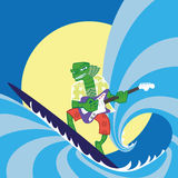 Surfer instro monster Stock Image