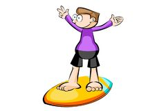 Surfer isolated on white background Stock Photography