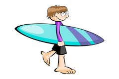 Surfer isolated on white Stock Photos