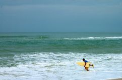 Surfer in Itauna Royalty Free Stock Image
