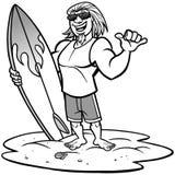 Surfer Joe Illustration. A vector illustration of a Surfer Royalty Free Stock Photo