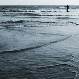 Surfer on the Kamakura Ocean Royalty Free Stock Photos