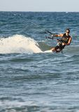 Surfer Kite surf Cullera Spain Royalty Free Stock Photography