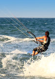 Surfer Kite surf Cullera  Valencia province Spain Royalty Free Stock Image