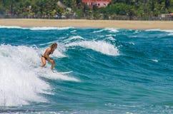 Surfer in La Punta Royalty-vrije Stock Fotografie
