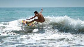 Surfer in Lagos Portugal Royalty-vrije Stock Foto