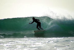 Surfer in Lagos Portugal Royalty-vrije Stock Afbeelding