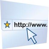 Surfer le WWW Photos libres de droits