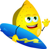 Surfer lemon Stock Photo