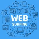 Surfer linéaire de Web d'illustration illustration de vecteur