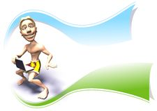 Surfer logo Stock Image