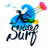 Surfer logo template. Royalty Free Stock Photos