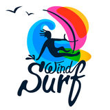 Surfer logo template. Stock Photo