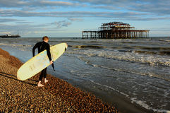 Brighton Surfer Royalty Free Stock Photos