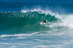 Surfer manouver Stock Image