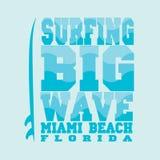 Surfer, Miami Beach, la Floride Image libre de droits