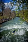 Surfer in munich germany Stock Photos