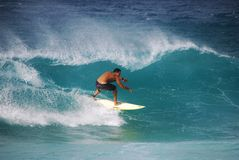 Surfer at North Shore, Oahu Stock Image
