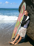 Surfer on the ocean Stock Images