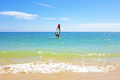 Surfer at the ocean in the Algarve Portugal Royalty Free Stock Images