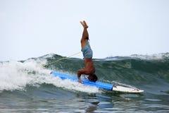 Surfer in ocean Royalty Free Stock Image