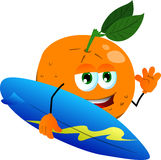 Surfer orange Royalty Free Stock Photos
