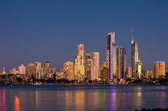 Surfer Paradies, Gold Coast, Australien stockbild