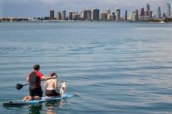 Surfer-Paradies-Skyline - Gold Coast Queensland Australien Lizenzfreies Stockbild