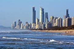 Surfer-Paradies-Skyline - Queensland Australien Lizenzfreie Stockfotos
