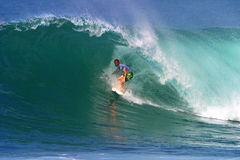 Surfer Pat O'connell Surfing in Hawaii Stock Image
