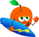 Surfer peach Royalty Free Stock Photo
