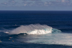 Surfer at Peahi or Jaws surf break, Maui, Hawaii, USA Stock Photo