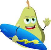 Surfer pear Royalty Free Stock Photo