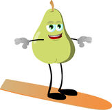 Surfer pear Royalty Free Stock Image