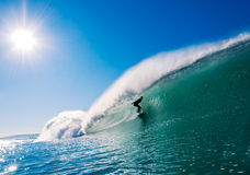 Surfer on Perfect Wave Royalty Free Stock Images