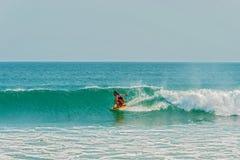 Surfer at Playa Venao in Panama Royalty Free Stock Photo