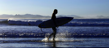 Surfer - Plons Royalty-vrije Stock Foto's