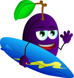 Surfer plum Royalty Free Stock Image