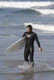 Surfer portrait. Photo of a surfer portrait with surfboard Stock Images