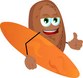 Surfer potato with thumb up Stock Photo