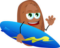 Surfer potato Royalty Free Stock Images