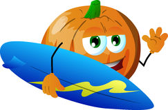 Surfer pumpkin Stock Photos