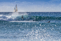 Surfer at Reeds Bay Barbados Royalty Free Stock Images