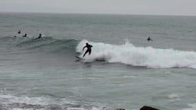 Surfer ridding a wave