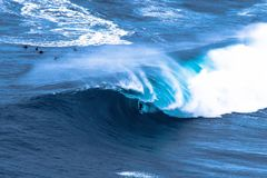 Big wave surfer Royalty Free Stock Images